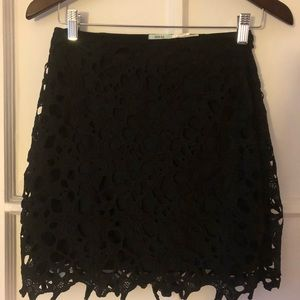 Urban Outfitters black lace pencil skirt